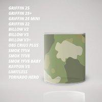 Стекло для Атомайзера (бака) с рисунком Camouflage